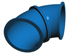 The BlueDuct® Flanged Elbow